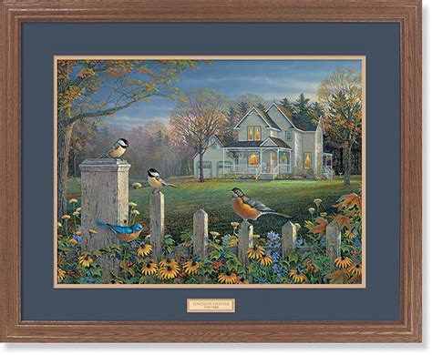 fenceline chatter birds gna premium framed print wild wings