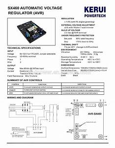 For Newage Stamford Generator Nupart Avr Sx460