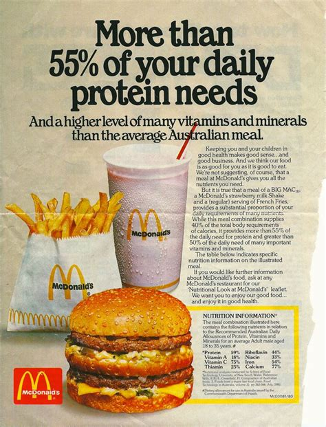 cuisine ad 55 of your daily protein needs who really knows how much of your sodium and needs