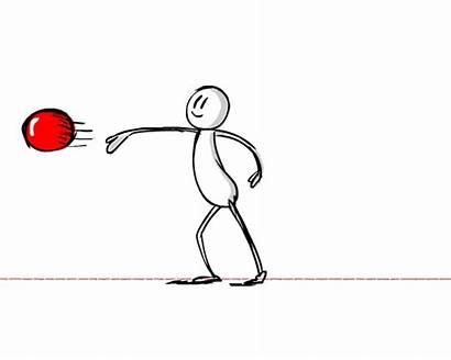 Throwing Ball Animate Character Drawing