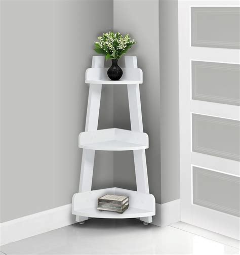 White Bathroom Etagere by Bathroom Accent 34 Inch H White Corner Etagere