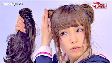 japanese schoolgirl hairstyles   tutorial  kawaii