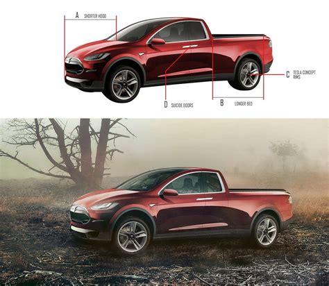 tesla pickup truck design sketches carwow