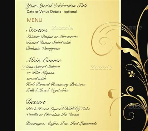 birthday menu templates psd docs pages ai