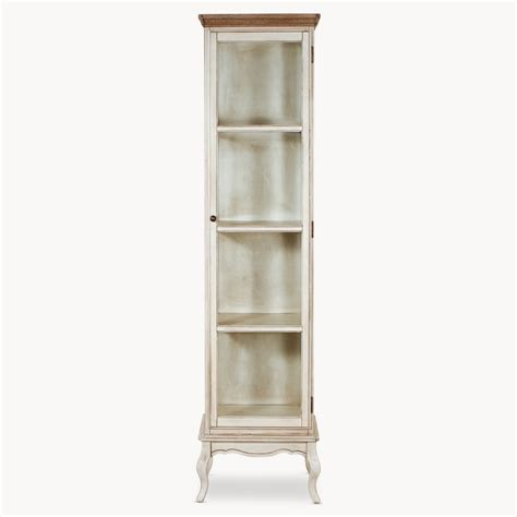 tall narrow cabinet with doors vintage tall narrow white cabinet with glass doors of