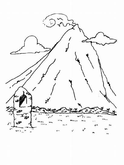Coloring Mountains Pages Printable Nature