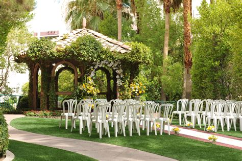 the gazebo wedding chapel at flamingo hotel casino las