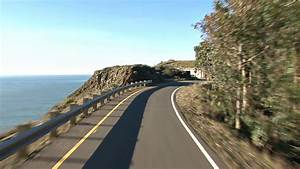 Driving Along Cliff Road Stock Video Footage