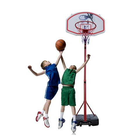 Adjustable 85ft Basketball Hoop System Stand Net Goal W
