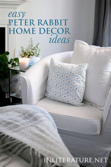 easy peter rabbit inspired home decor ideas  literature