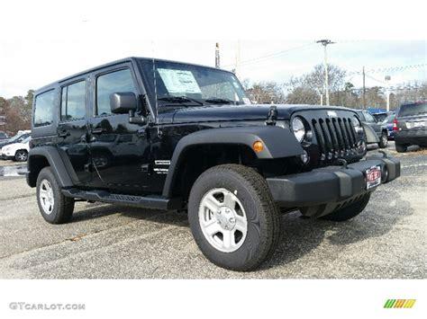 jeep wrangler sports 2016 2016 black jeep wrangler unlimited sport 4x4 109040485