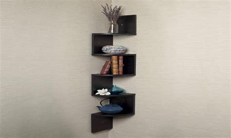 Wooden And Glass Corner Rack Small Wood Corner Shelf