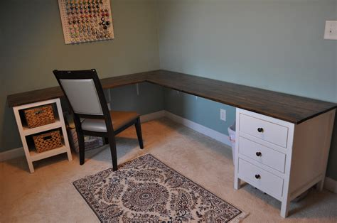 how to build an l shaped desk from scratch ana white craft room build diy projects