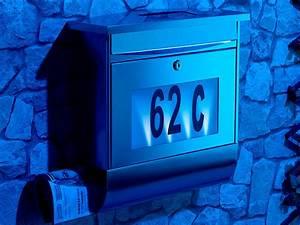 Hausnummer Mit Beleuchtung : lunartec edelstahl briefkasten mit solar leucht hausnummer beleuchtung neu ebay ~ Eleganceandgraceweddings.com Haus und Dekorationen