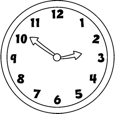 Clipart Time by Time Clip Black And White Cliparts