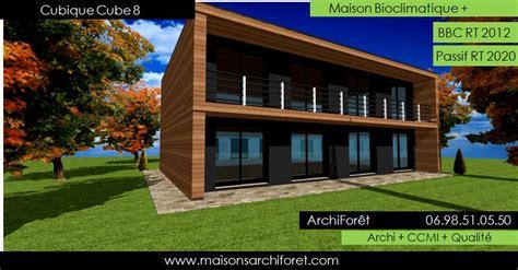 plan et photo de maison avec etage ossature bois par architecte constructeur www
