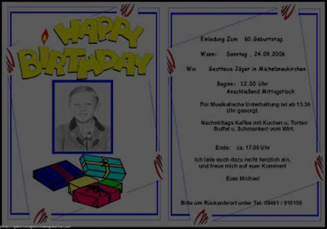 vorlage einladung geburtstag einladungen geburtstag