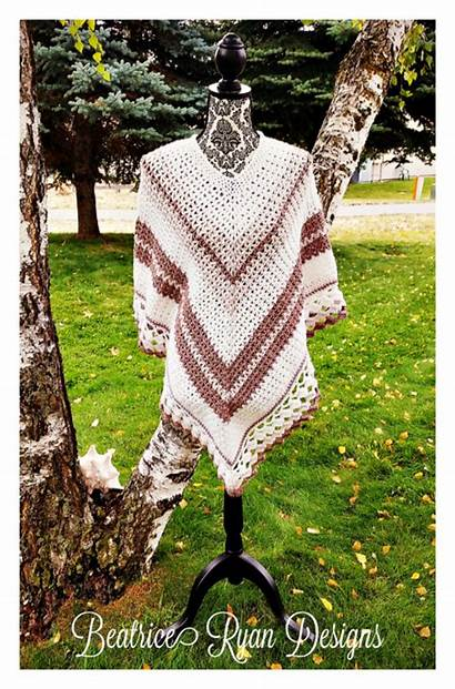 Poncho Crochet Announcement Winner Coffee Beatriceryandesigns Cal