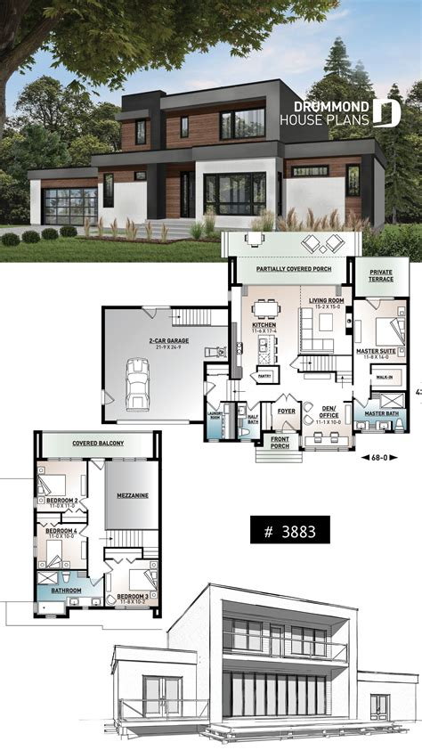 house plan Essex No 3883 Bungalow house design Modern