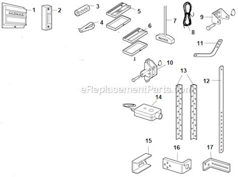chamberlain garage door parts chamberlain 1100 parts list and diagram