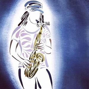 Faith Krausman  Alto Sax Drawing