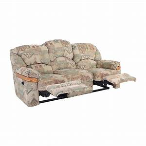 82 off patterned fabric recliner sofa sofas With used sectional sofa with recliner