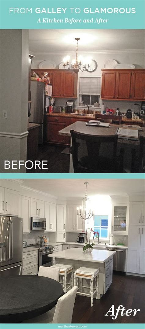 turning a galley kitchen into an open kitchen pretty before and after kitchen makeovers noted list 9901