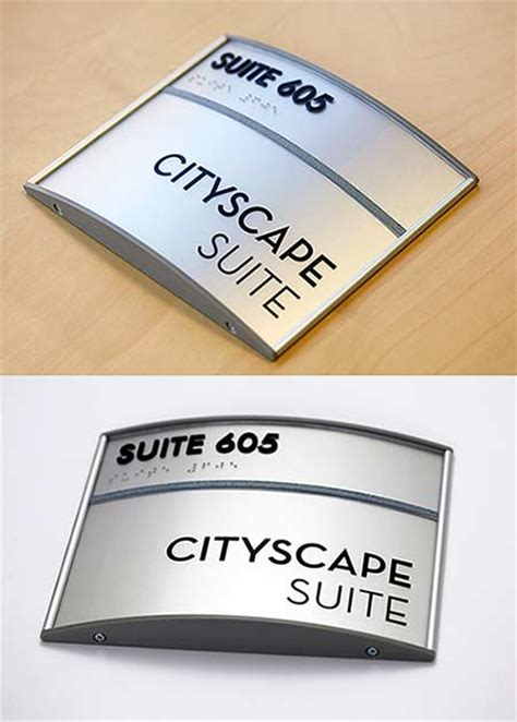 door sign curved sign frames with free personalization curved office signs