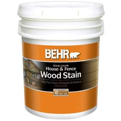 behr 5 gal white solid color house and fence wood stain 01105 the home depot
