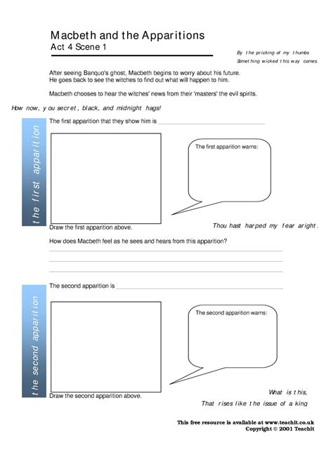 worksheet macbeth worksheets worksheet worksheet