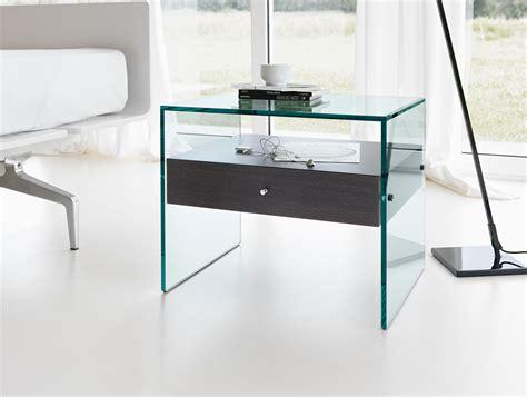 design beistelltisch glas nella vetrina tonelli secret modern italian designer bedside table