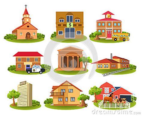 Community Buildings Clip Art