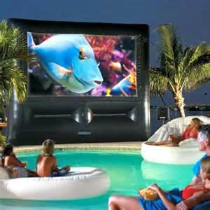 Big Pool Movie Screen