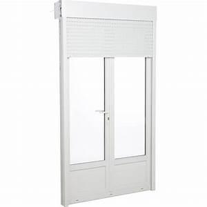 Porte fenetre pvc avec volet roulant primo h215 x l140 for Porte fenetre pvc avec volet roulant