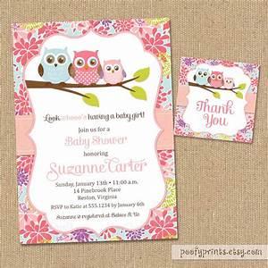 Owl Baby Shower Invitations - DIY Printable Baby Girl ...