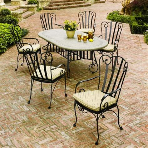 wrought iron patio dining sets jefferson wrought iron 7