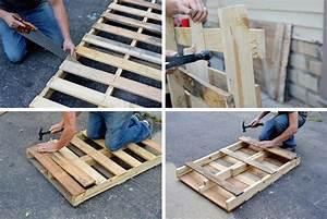 Pied De Table En épingle : diy fabriquer une table palette pieds en pingles ~ Dailycaller-alerts.com Idées de Décoration