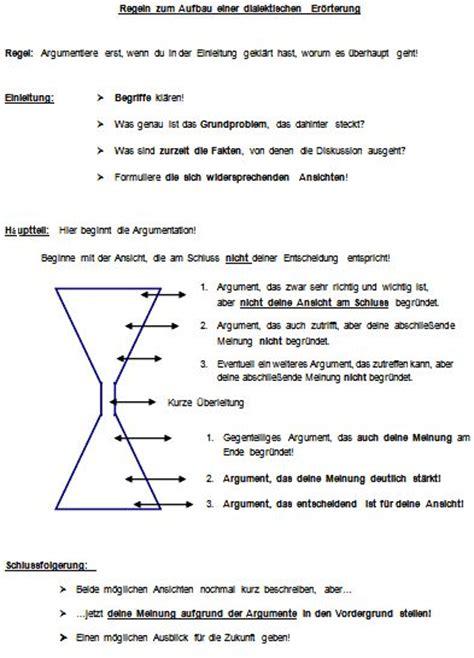 eroerterung schreiben und argumentation verfassen german