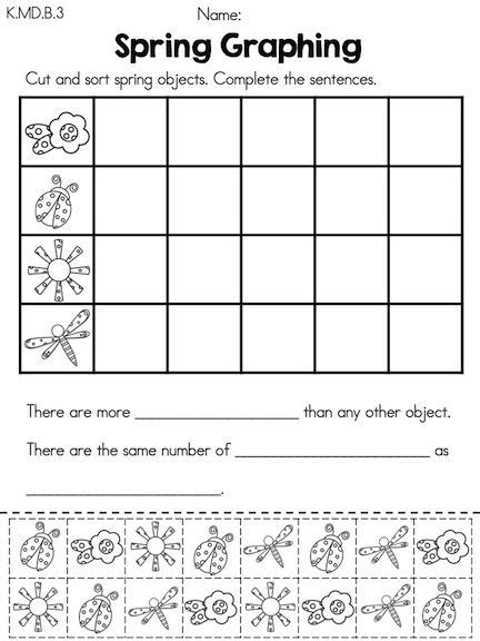 cut and paste graphing worksheets for kindergarten kindergarten math worksheets common aligned