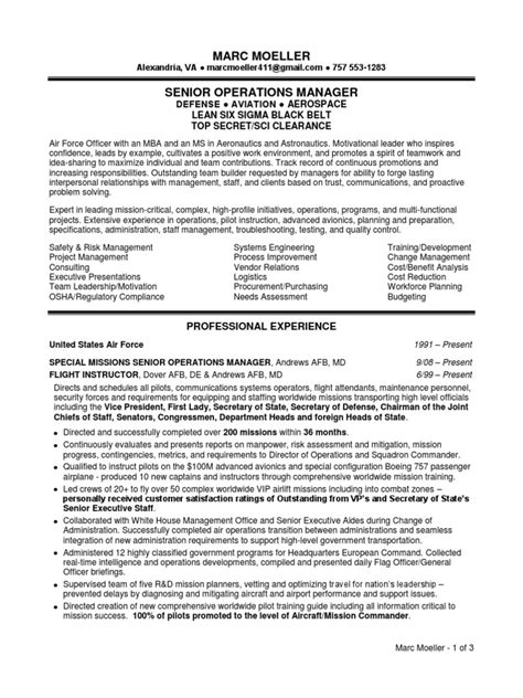 director of operations resume sles visualcv resume