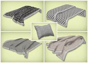 Simsrocuted: Neutral beddings, blankets and pillows • Sims