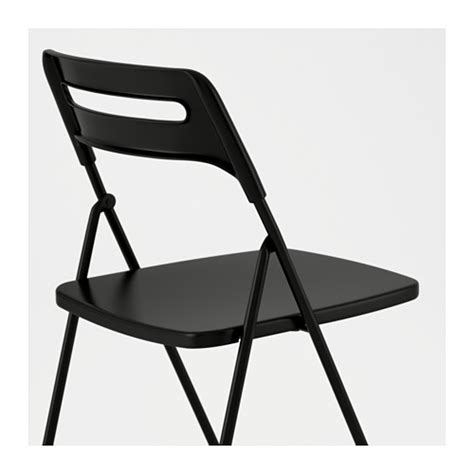 nisse folding chair black ikea