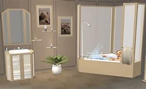 Mod the sims pentago bathroom mesh set for Sims freeplay baby bathroom