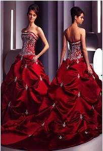 Red wedding dresses for the sassy sophisticated bride for Red dresses for weddings