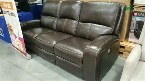 Loveseat Costco by Costco Leather Sofa W 2 Power Reclining Seats With Usb
