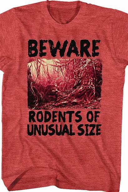Princess Bride Unusual Rodents Beware Shirt