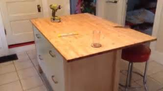 kitchen island on casters ikea varde four drawer kitchen island assembly tutorial
