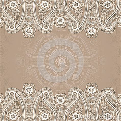 paisley border lace design template stock vector image