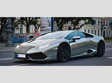 Lamborghini Huracán Wrapped in Chrome