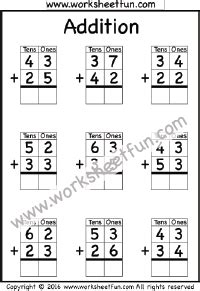 addition without regrouping worksheet for grade 1 addition no regrouping free printable worksheets